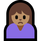 Person Frowning: Medium Skin Tone on Microsoft Windows 10 May 2019 Update