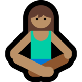 Person in Lotus Position: Medium Skin Tone on Microsoft Windows 10 May 2019 Update