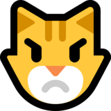 Pouting Cat on Microsoft Windows 10 May 2019 Update
