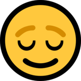 Relieved Face on Microsoft Windows 10 May 2019 Update