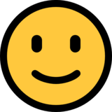 Slightly Smiling Face on Microsoft Windows 10 May 2019 Update