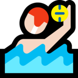 Person Playing Water Polo: Light Skin Tone on Microsoft Windows 10 May 2019 Update