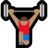 Person Lifting Weights: Medium Skin Tone on Microsoft Windows 10 May 2019 Update