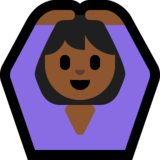 Woman Gesturing OK: Medium-Dark Skin Tone on Microsoft Windows 10 May 2019 Update