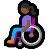 Woman in Manual Wheelchair: Medium-Dark Skin Tone on Microsoft Windows 10 May 2019 Update