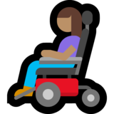 Woman in Motorized Wheelchair: Medium Skin Tone on Microsoft Windows 10 May 2019 Update