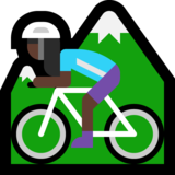 Woman Mountain Biking: Dark Skin Tone on Microsoft Windows 10 May 2019 Update