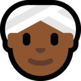Woman Wearing Turban: Medium-Dark Skin Tone on Microsoft Windows 10 May 2019 Update