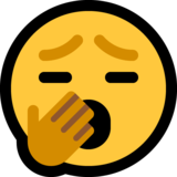 Yawning Face on Microsoft Windows 10 May 2019 Update