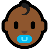 Baby: Medium-Dark Skin Tone on Microsoft Windows 10 Anniversary Update