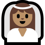 Bride With Veil: Medium Skin Tone on Microsoft Windows 10 Anniversary Update