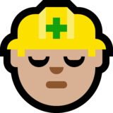 Construction Worker: Medium-Light Skin Tone on Microsoft Windows 10 Anniversary Update