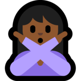 Person Gesturing No: Medium-Dark Skin Tone on Microsoft Windows 10 Anniversary Update
