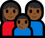 Family - Woman: Medium-Dark Skin Tone, Man: Medium-Dark Skin Tone, Boy: Medium-Dark Skin Tone on Microsoft Windows 10 Anniversary Update