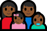 Family - Woman: Medium-Dark Skin Tone, Man: Medium-Dark Skin Tone, Girl: Medium-Dark Skin Tone, Baby: Medium-Dark Skin Tone on Microsoft Windows 10 Anniversary Update