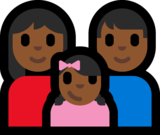 Family - Woman: Medium-Dark Skin Tone, Man: Medium-Dark Skin Tone, Girl: Medium-Dark Skin Tone on Microsoft Windows 10 Anniversary Update