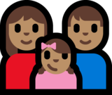 Family - Woman: Medium Skin Tone, Man: Medium Skin Tone, Girl: Medium Skin Tone on Microsoft Windows 10 Anniversary Update