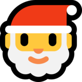 Santa Claus on Microsoft Windows 10 Anniversary Update