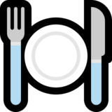 fork and knife with plate emoji on microsoft windows 10