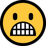 Grimacing Face on Microsoft Windows 10 Anniversary Update