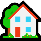 House with Garden on Microsoft Windows 10 Anniversary Update