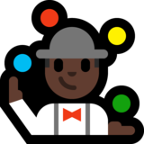 Person Juggling: Dark Skin Tone on Microsoft Windows 10 Anniversary Update