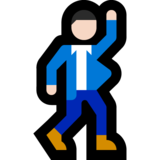Man Dancing: Light Skin Tone on Microsoft Windows 10 Anniversary Update