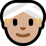 Person Wearing Turban: Medium-Light Skin Tone on Microsoft Windows 10 Anniversary Update