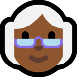 Old Woman: Medium-Dark Skin Tone on Microsoft Windows 10 Anniversary Update