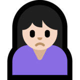 Person Frowning: Light Skin Tone on Microsoft Windows 10 Anniversary Update