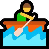Person Rowing Boat on Microsoft Windows 10 Anniversary Update