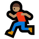 Person Running: Medium Skin Tone on Microsoft Windows 10 Anniversary Update