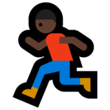 Person Running: Dark Skin Tone on Microsoft Windows 10 Anniversary Update