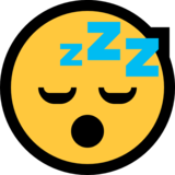 Sleeping Face on Microsoft Windows 10 Anniversary Update