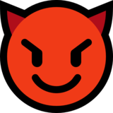 Smiling Face with Horns on Microsoft Windows 10 Anniversary Update