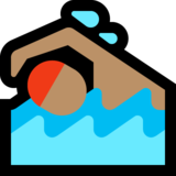 Person Swimming: Medium Skin Tone on Microsoft Windows 10 Anniversary Update