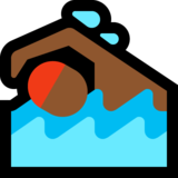 Person Swimming: Medium-Dark Skin Tone on Microsoft Windows 10 Anniversary Update