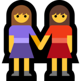 Women Holding Hands on Microsoft Windows 10 Anniversary Update