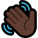 Waving Hand: Dark Skin Tone on Microsoft Windows 10 Anniversary Update