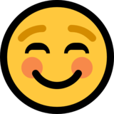 Smiling Face on Microsoft Windows 10 Anniversary Update