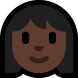 Woman: Dark Skin Tone on Microsoft Windows 10 Anniversary Update