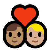 Couple with Heart: Man, Man, Medium Skin Tone, Medium-Light Skin Tone on Microsoft Windows 10 Creators Update