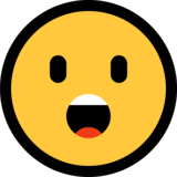 Face With Open Mouth on Microsoft Windows 10 Creators Update