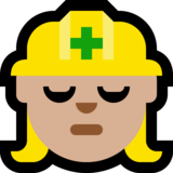 Woman Construction Worker: Medium-Light Skin Tone on Microsoft Windows 10 Creators Update