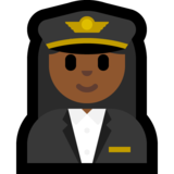 Woman Pilot: Medium-Dark Skin Tone on Microsoft Windows 10 Creators Update
