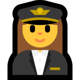 Woman Pilot on Microsoft Windows 10 Creators Update