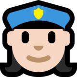 Woman Police Officer: Light Skin Tone on Microsoft Windows 10 Creators Update
