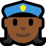 Woman Police Officer: Medium-Dark Skin Tone on Microsoft Windows 10 Creators Update