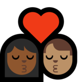 Kiss: Woman, Man, Medium-Dark Skin Tone, Medium Skin Tone on Microsoft Windows 10 Creators Update