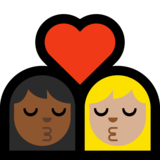 Kiss: Woman, Woman, Medium-Dark Skin Tone, Medium-Light Skin Tone on Microsoft Windows 10 Creators Update